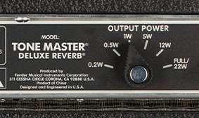 Fender Tone Master Deluxe Reverb Amp Rear Panel