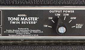 Tone Master Twin Reverb Amp Rear View